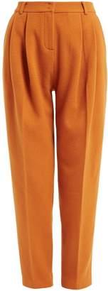 WtR - Nina Mustard Wool High Waist Tapered Trousers
