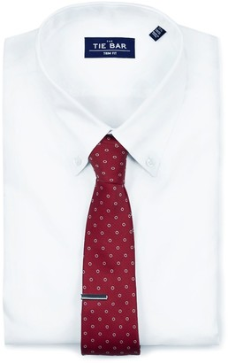 The Tie Bar Pinpoint Solid - Button-down Collar