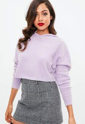Missguided Hooded Cosy Sweater Lilac
