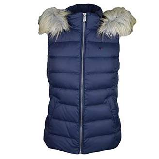 Tommy Hilfiger Tommy Jeans Women's Vest Down Fill with Faux Fur Hood
