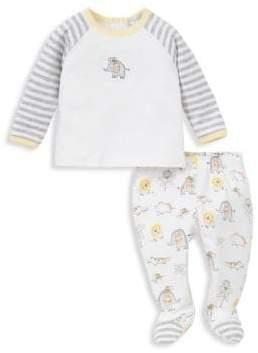 Kissy Kissy Baby's Two-Piece Jungle Foote Pajama Set