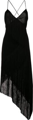 Givenchy cascading fringe slip dress