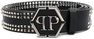Philipp Plein pyramid stud belt