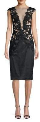 Mandalay Illusion Sheath Dress