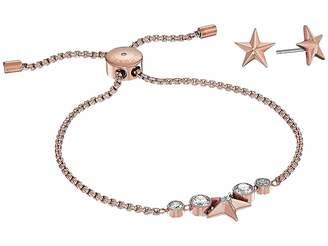 Michael Kors Starburst Slider Bracelet w/ Matching Earrings Set Jewelry Sets