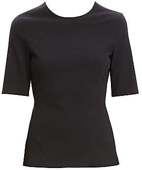 7211c1a5e3b Theory Women's Cotton Ponte Fitted Top