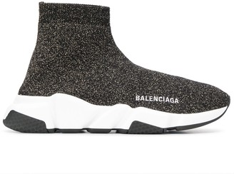 Balenciaga Speed LT lurex knit sneakers