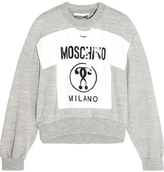 Moschino - Printed Jersey Sweatshirt - Gray $750 thestylecure.com