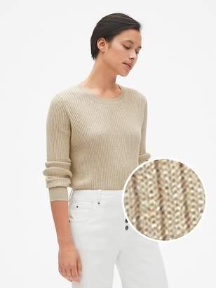 Gap True Soft Metallic Ribbed Pullover Sweater