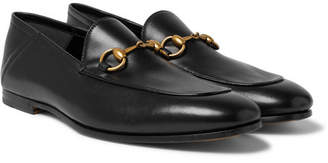 1b0a180b42e Gucci Brixton Horsebit Collapsible-Heel Leather Loafers