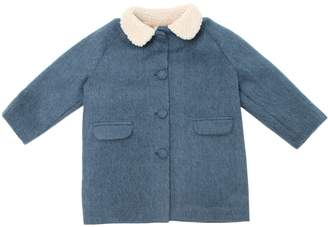 Caramel Baby And Child Mohair, Wool & Cotton Felt Coat