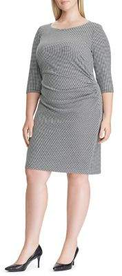 Lauren Ralph Lauren Plus Knit Jacquard Sheath Dress
