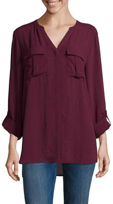 A.N.A Long Sleeve Pleat Pocket Shirt - Tall