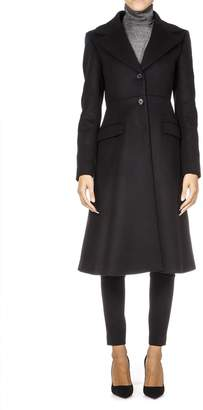 Dondup Black Wool Flared Coat