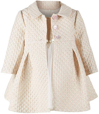 Bonnie Baby Baby Girls Brocade Metallic Jacket & Ballerina Dress Set