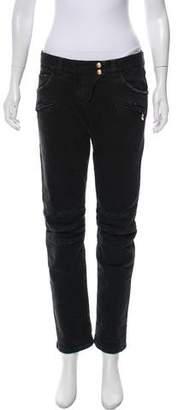 Balmain Mid-Rise Straight-Leg Jeans
