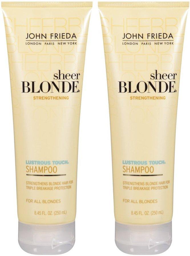 John Frieda Sheer Blonde Lustrous Touch Strengthening Shampoo - 8.45 oz - 2 pk