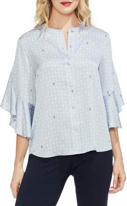 Vince Camuto Ruffle Bell Sleeve Top