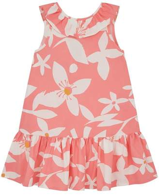 Il Gufo Floral Ruffle Dress