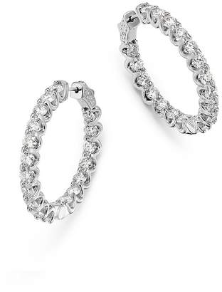 Bloomingdale's Diamond Inside Out Hoop Earrings in 14K White Gold, 5.4 ct. t.w. - 100% Exclusive