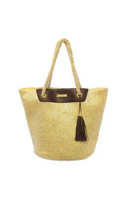 Paige Charlie Paper Straw Bag Silver