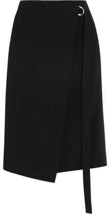 Michael Kors Collection Wrap-Effect Wool Skirt