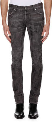 Just Cavalli Men's Distressed Gray-Wash Jeans