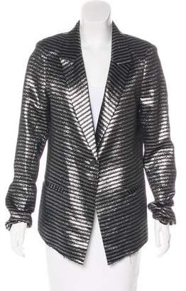 RtA Denim Striped Metallic Blazer w/ Tags