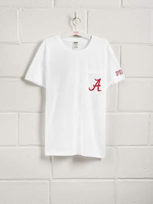 PINK University of Alabama Bling Short Sleeve Campus Pocket Tee