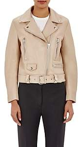 "Acne Studios Women's Belted ""Mock"" Moto Jacket-Beige, Tan"