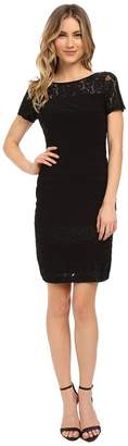 Adrianna Papell Diagonal Stitched Bands Bodycon Dress Women's Dress