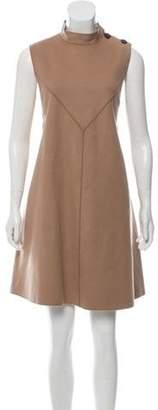Derek Lam Wool A-Line Dress Tan Wool A-Line Dress