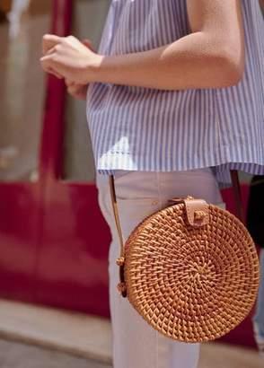 MANGO Bamboo round bag