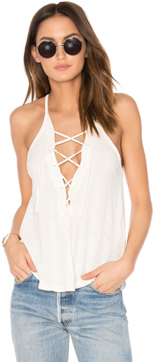 LNA Lace Up Tank $81 thestylecure.com