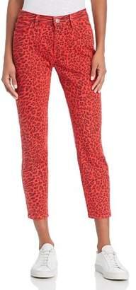 Current/Elliott The Stiletto Skinny Jeans in Red Warped Species