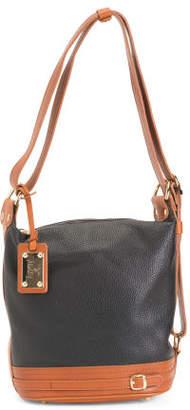 Made In Italy Leather Sling Shoulder Bag