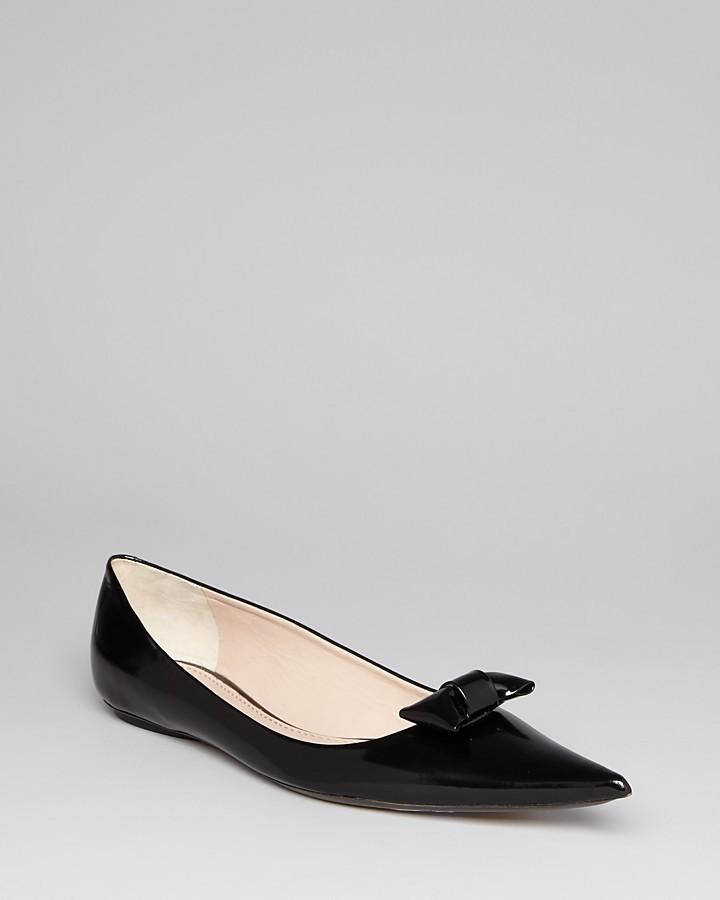 Marc Jacobs Tuxedo Bow Flats - Pointy Toe