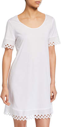 Hanro Bella Eyelet-Trim Nightgown