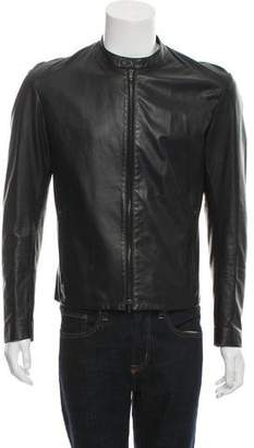 Maison Margiela Leather Café Racer Jacket