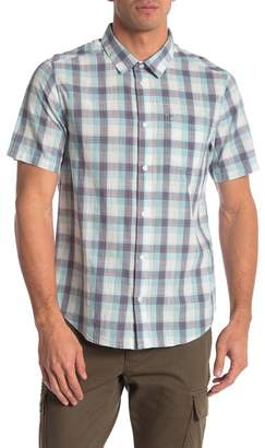 RVCA Deep Plaid Short Sleeve Regular Fit Shirt