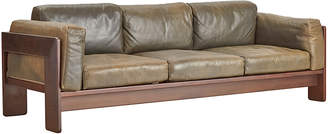Rejuvenation Leather & Rosewood Convertible Sofa by Scarpa for Gavina