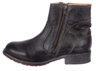 Bed Stu Leather Round-Toe Ankle Boots