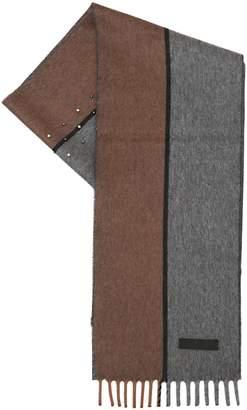 Prada Studded Two Tone Cashmere Scarf
