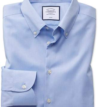 Charles Tyrwhitt Extra slim fit button-down business casual non-iron sky blue shirt