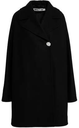 McQ Embellished Wool-Blend Felt Coat