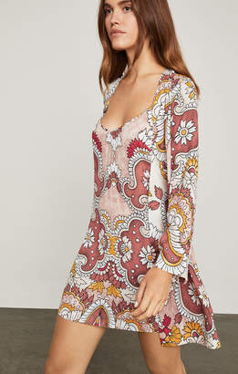 BCBGMAXAZRIA Grand Paisley Wrap Dress