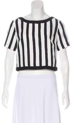 Trina Turk Striped Short Sleeve Top