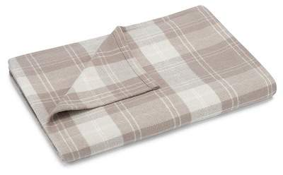 Queen Wrangell Plaid Blanket - Tan