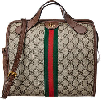Gucci Ophidia Mini Gg Supreme Canvas & Leather Duffle