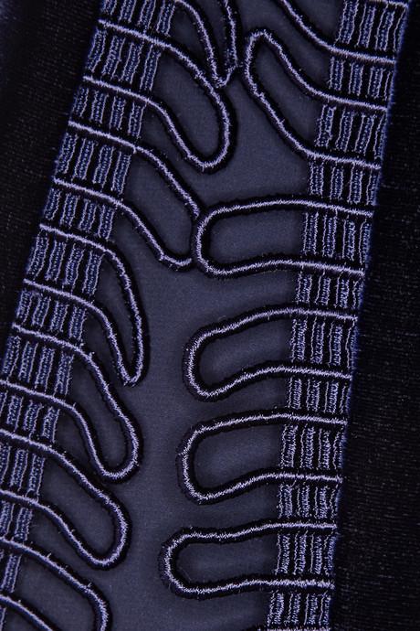 Christopher Kane Loop tape-trimmed velvet top